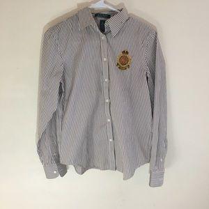 NWOT Lauren Ralph Lauren Button Down Dress Shirt
